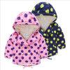 Пальто ватки Berber детей девушки одеяния с большим МНОГОТОЧИЕМ польки