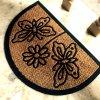 Esteras de puerta de goma durables moldeadas grabado de la fibra de coco del bonote de los Cocos de la entrada del forro que graban