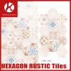 Azulejos rústicos de cerámica del hexágono material de la decoración para el interior y el exterior