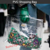 PVC promozionale Shopping Bag di Clear con Button