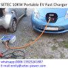 EV는 충전소 Chademo와 CCS 케이블을%s 가진 단식한다