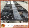 Dessus blanc noir normal de construction préfabriquée de quartz de partie supérieure du comptoir de péninsules de pierre de quartz