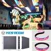 La etapa flexible del LED/la publicidad de la muestra de la visualización video instala