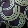 Papel pintado metálico Foshan de la plata del negro de la hoja de la cortina de la impresión