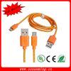 マイクロプラグ男性データ同期信号及び充満ケーブルのオレンジへのUSB