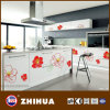 Kitchen Cabinet Door (ZH-C836)のための花紫外線Plywood Panel