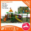 Grande campo de jogos plástico ao ar livre antiestático da corrediça dos cabritos