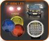 Preço de fábrica, luz de condução redonda do diodo emissor de luz de 9inch 185W com ponto e tampas da inundação