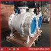 Válvula de bola del muñón API 6D de acero al carbono con bridas