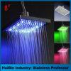 Alta Presure LED pista de ducha de temperatura controlada de Squre 12