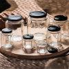 Fabrik auf lagerhexagon-im Glasstau-Glas-Stau-Honig-Glas