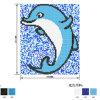 Het blauwe Mozaïek van de Pool van Drean van de Vissen van Dophin van de Grens