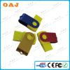 Guter Design Key Shaped Metal Mini USB Stick mit Leather Cover