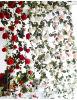 Flowerking IVY Garland pendaison ivy en plastique vraie touche Blossom Décoration de mariage de vignes Rose Fleur artificielle de glycine factice