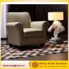 Cadeira do acento do vintage luxuoso/sofá de couro Khaki mobília da sala de visitas