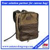 Mens-Form-Segeltuch-Rucksack für Laptop und Buch