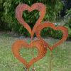 FO-CS11 het decoratieve Beeldhouwwerk van het Staal Corten van het Hart van de Tuin Vastgestelde