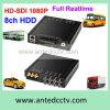 El mejor 8CH HDD DVR móvil para el tren del cargo de la flota del tránsito de los vehículos del autobús
