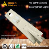 Rue lumière solaire avec 360 degrés de caméra de vidéosurveillance HD WiFi