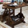 Lazer em madeira de estilo americano, mesa de café para mobiliário doméstico (como811)