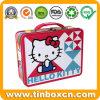 Hello Kitty Almoço Caixa de metal com pega para Dom Estanho