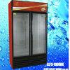 Refrigerador de cristal LC/S-1000HK de la droga de la leche de la bebida de los congeladores de la visualización de la puerta