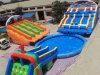 Trasparenza gonfiabile divertente con il raggruppamento per il paradiso dei bambini
