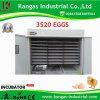 Incubateur automatique de bonne qualité de vente chaud de poulet de 3520 oeufs
