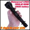 Helder 18650 Waterdicht CREE Q5 Metaal flitslicht-Y1