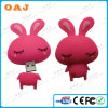 USB novo 2GB 4GB 8GB 16GB do PVC Carton Rabbit de Rabbit Shape