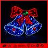 Indicatori luminosi blu di motivo della decorazione di natale del LED Bell 2D