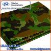 Bâche de protection militaire de tente de PVC de camouflage