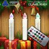 De draadloze Decoratie van Kerstmis van de Korting van de Kaars Kleurrijke