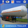 판매를 위한 반 25tons 59600liters LPG 탱크 유조선 트레일러