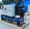 Única/refrigerador de refrigeração do parafuso do compressor água industrial dobro do Ce