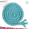 A corda oca lisa trançada do algodão do azul cru da alta qualidade para o vestuário do saco calç o tampão