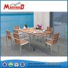 Madera maciza mesa de comedor y sillas Set