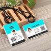 명확한 아크릴 명함 사용 실리콘 물자 ID 카드 홀더 또는 이름표 홀더