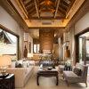 Meubles modernes de sofa en bois solide de type chinois d'hôtel