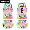 Luva curta Sublimated 3D da garganta de grupo de Ozeason ou voleibol Sleeveless Jersey da camisola interioa
