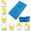 Полиэфира Paisley продукции фабрики пестрые платки Microfiber голубого безшовные