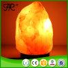 자연적인 히말라야 소금 램프, 할로겐 전구를 가진 소금 바위 램프