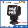 CREE 60W quadratisches Arbeits-Licht des Automobil-LED für LKW