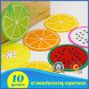 Sottobicchiere molle personalizzato del PVC nel disegno della frutta per il commercio all'ingrosso