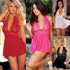 Biancheria sexy delle donne degli indumenti da notte della biancheria intima del vestito dal corsetto con G-Stringa