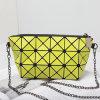La plata geométrica rombal amarilla de la PU de Matt encadena el bolso de las mujeres (B008-20)