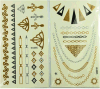 Модные временно стикеры золота и серебра Tattoo тела