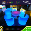 Meubles de jardin Table ronde à LED ronde en verre éclairé