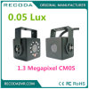 960p 3.6mmレンズ車のドームのカメラシステム75程度10m IRの間隔