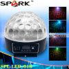 Efecto luminoso del disco mágico cristalino de la bola LED